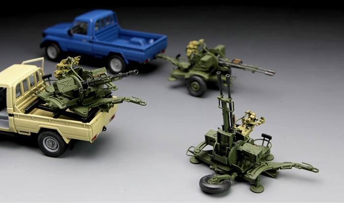 Meng-Model VS-004 1/35 Scale Plastic Model Kit Pickup Truck With ZU-23-2 Antiaircraft Gun Scale Model, Static Truck Model