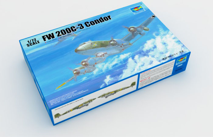 TRUMPETER Plastic Model Kit 01637, WWII German FW200 C-3 Condor Plastic Model Kit, Bomber Scale  Model, Static Aircraft Model.