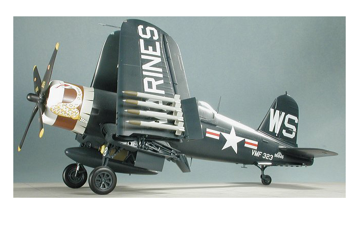 TRUMPETER Plastic Model Kit 02222, WWII USA Vought F4U-4 Corsair Plastic Model Kit Fighter Scale Model, Static Aircraft Model