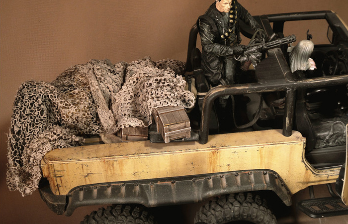 Camouflage Net For Scale Model RC Car, RC Truck, RC Ship, RC Military Vehicle, RC Tank.