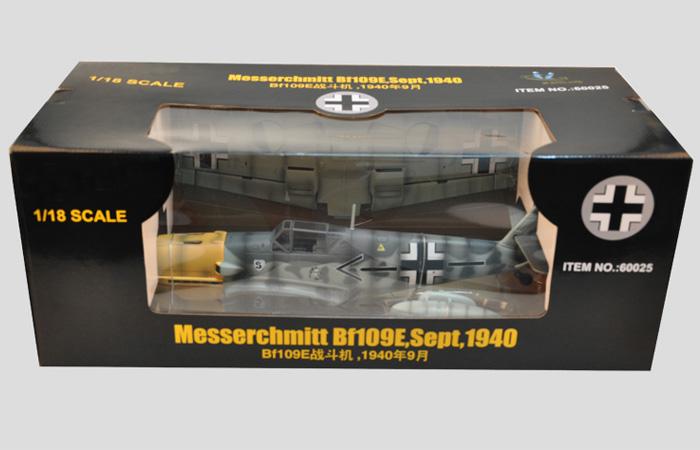 1/18 Scale  MESSERSCHMITT BF-109 E, ADOLF GALLAND, JSI-60025, Trumpeter  60025.