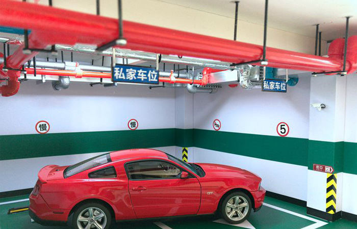 1/18 Diecast Scale Model Cars Showcase Window, Indoor Underground Garage Scenes Diorama.