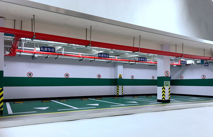 1:18 Diecast Scale Model Cars Indoor Garage Scenes Diorama 5 Parking Spaces.