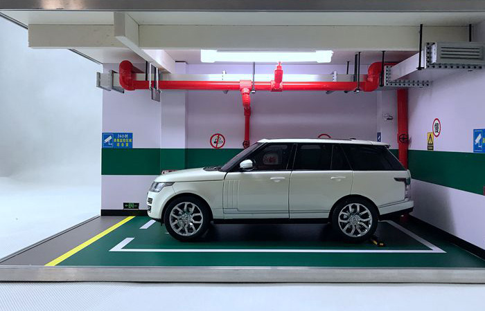 1/18 Diecast Scale Model Car Garage Parking Scenes Diorama, Single Parking Space.