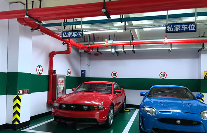 Collection Your 1:18 Diecast Scale Model Cars Basement Parking Space Scenes Diorama.