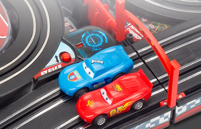 Portable Folding Hand Crank Generator, Cars McQueen Slot Car Track Racing Play Set.