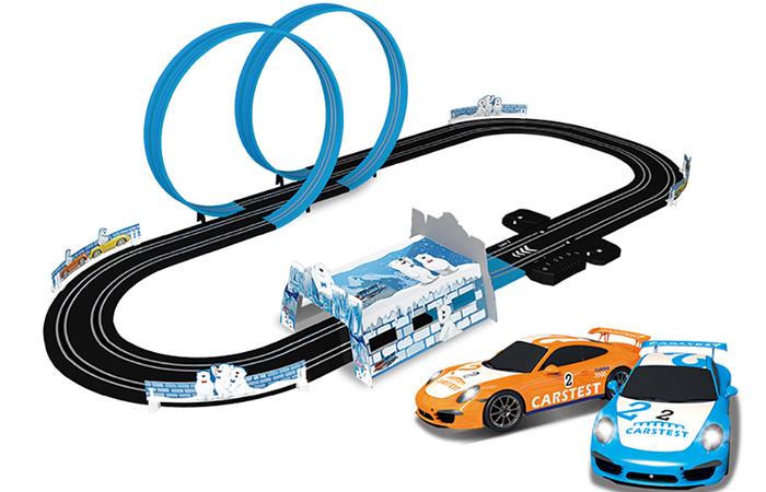 Top-Racer AGM MR-02 Slot Car Racing Sets, Remote Control Car Racing Track, Kids Toys Car Raceway.
