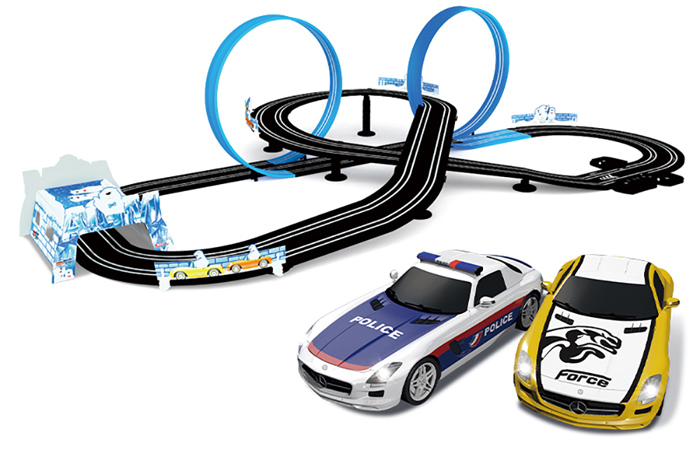 Top-Racer AGM MR-03 Slot Car Racing Sets, Remote Control Car Racing Track, Kids Toys Car Raceway.