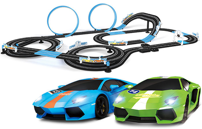 Top-Racer AGM MR-05 Slot Car Racing Sets, Remote Control Car Racing Track, Kids Toys Car Raceway.
