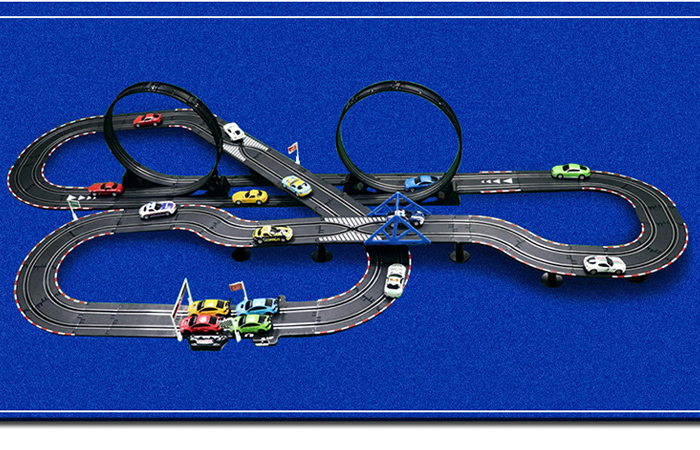 Top-Racer AGM TR-014 Slot Car Racing Sets, Remote Control Car Racing Track, Kids Toys Car Raceway.