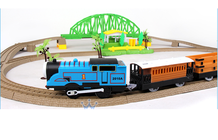 Thomas Toy Train Railway Play Set, Children's Electric Toy Train Kit, Christmas gift, Toy Trains for Kids.