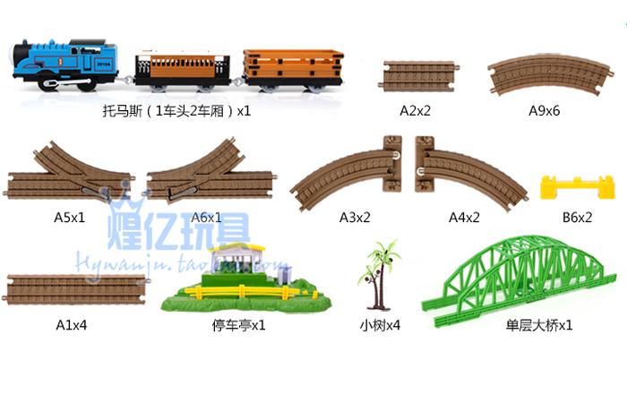Thomas Toy Train Railway Play Set, Children's Electric Toy Train Kit, Christmas gift, Toy Trains for Kids.