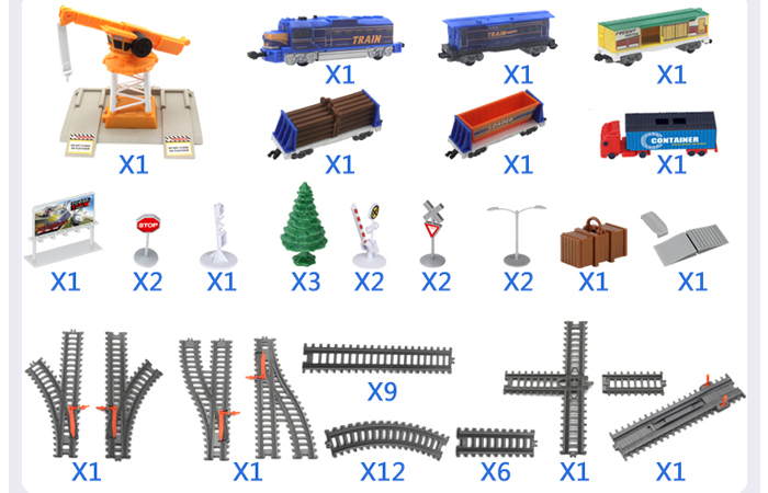 Electric Power Train World Toys For Kids, Toy Train Track Set, Railway Scene, Railroad Track Layout Toy.