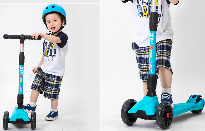 21st-Scooter RO203L 3 wheel scooter for kids, Flash tires, Foldable, Multiple Colors