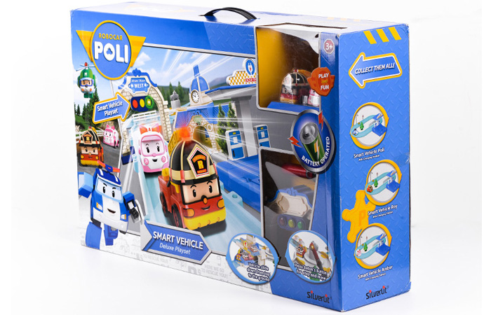 Silverlit Toys 83283 Robocar Poli Smart Vehicle Deluxe Play Set, Movie Cartoon Characters Kids Toy.