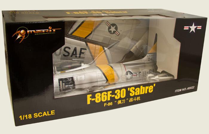 Merit Plastic Model kits JSI-60022, USAF 1/18 Scale Finished North-American F-86F-30 Sabre Jet fighter Static Model, Model airplane