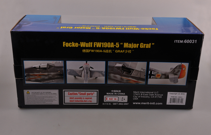 Merit International 60031, 1/18 Scale Model Focke-Wulf FW190A-5 ¡°Major Graf¡±.