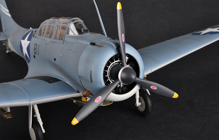 Merit Plastic Finished Model, 1/18 Scale World War II model airplane, U.S. NAVY SBD-3 DAUNTLESS Static airplane Model, airplane Model collection