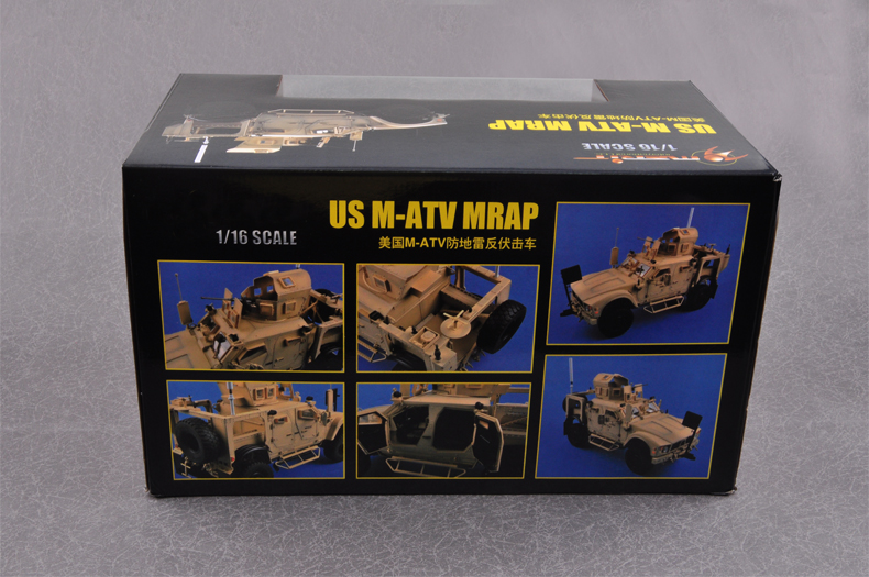 Finished model, 1/16 US M-ATV MRAP Static Model, Trumpeter model, Trumpeter 68605 Plastic model kits