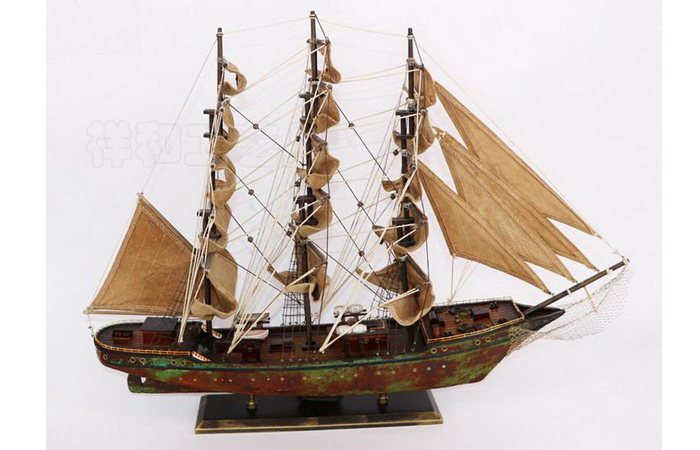 Wooden Ancient Sailing Boat Scale Model, Wood Crafts, Wooden Decorations, Handmade Crafts.