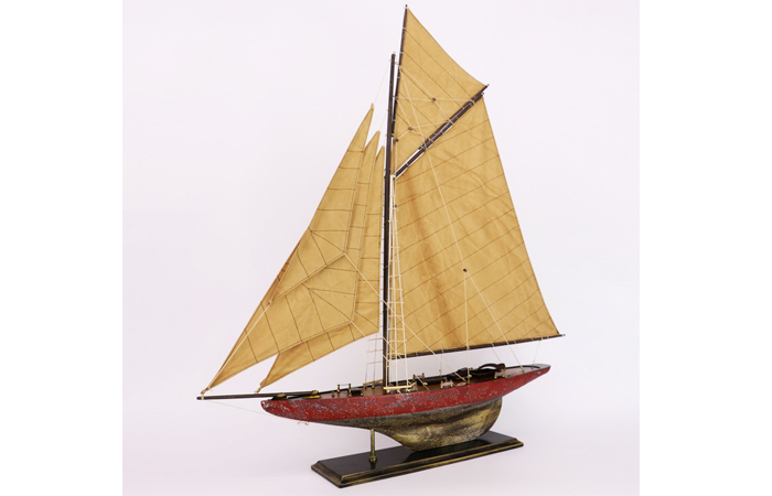 Wooden Mediterranean Sailboat Scale Model, Wood Crafts, Sailboat Artwork.