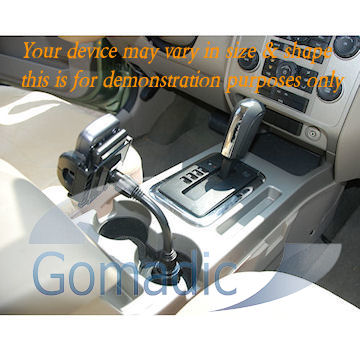 Gomadic Brand Car Auto Cup Holder Mount suitable for the Apple iPhone - Attaches to your vehicle cupholder