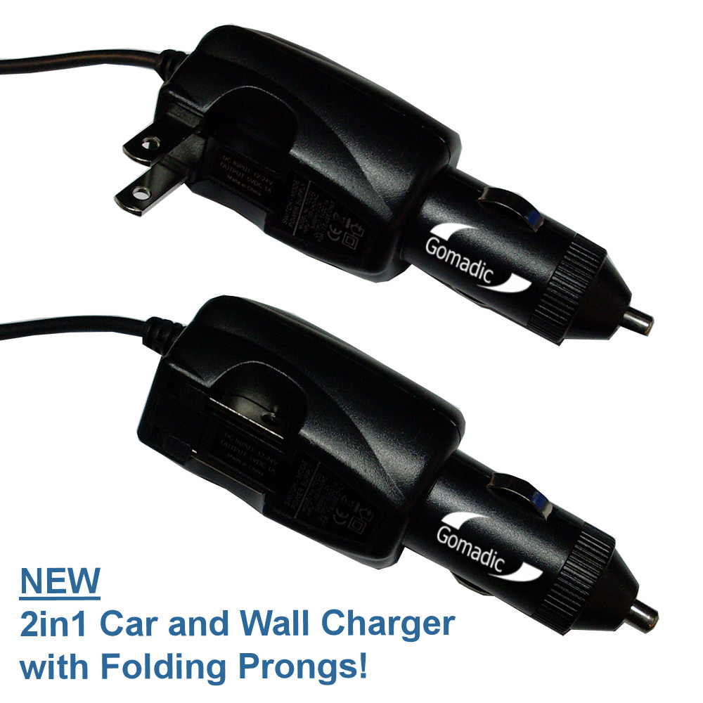 Intelligent Dual Purpose DC Vehicle and AC Home Wall Charger suitable for the HTC S730 - Two critical functions; one unique charger - Uses Gomadic Brand TipExchange Technology