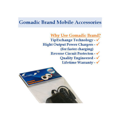 Gomadic Car and Wall Charger Essential Kit suitable for the Sony Ericsson z310i - Includes both AC Wall and DC Car Charging Options with TipExchange