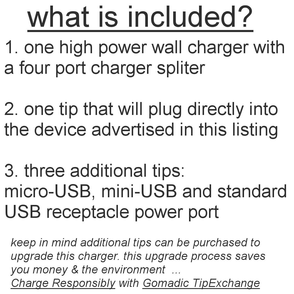Unique Gomadic 4-Port Intelligent Compact AC Home Wall Charger suitable for the TomTom VIA 1500 - High output power with a convenient and foldable plug design - Uses TipExchange Technology