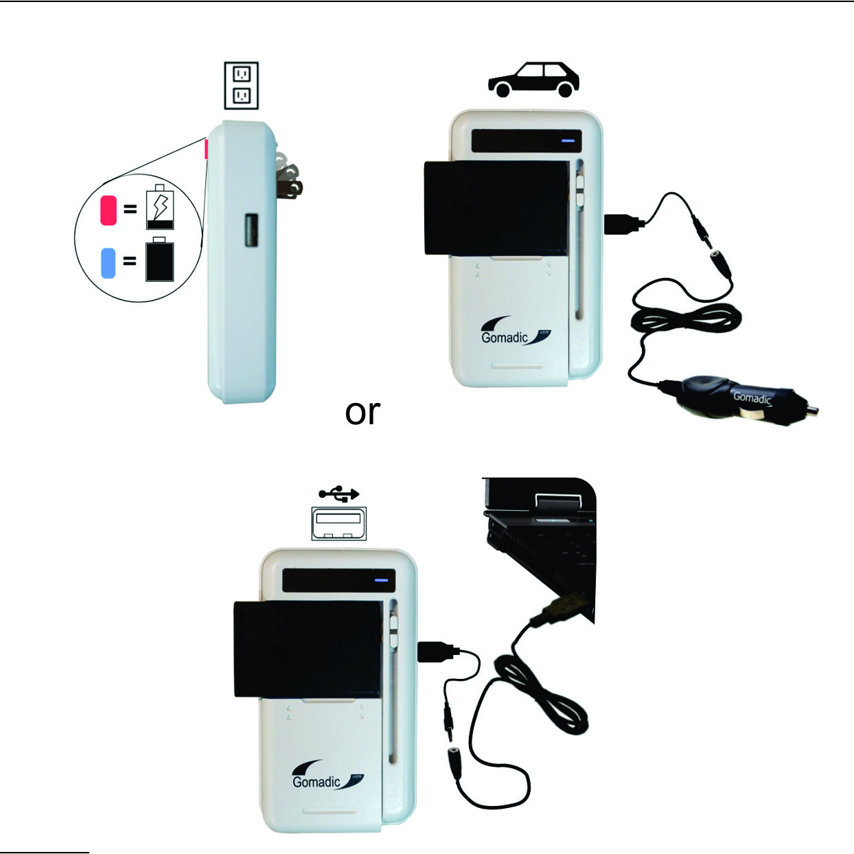 Gomadic Portable External Battery Charging Kit suitable for the Pantech Renue   Includes Wall; Car and USB Charge Options