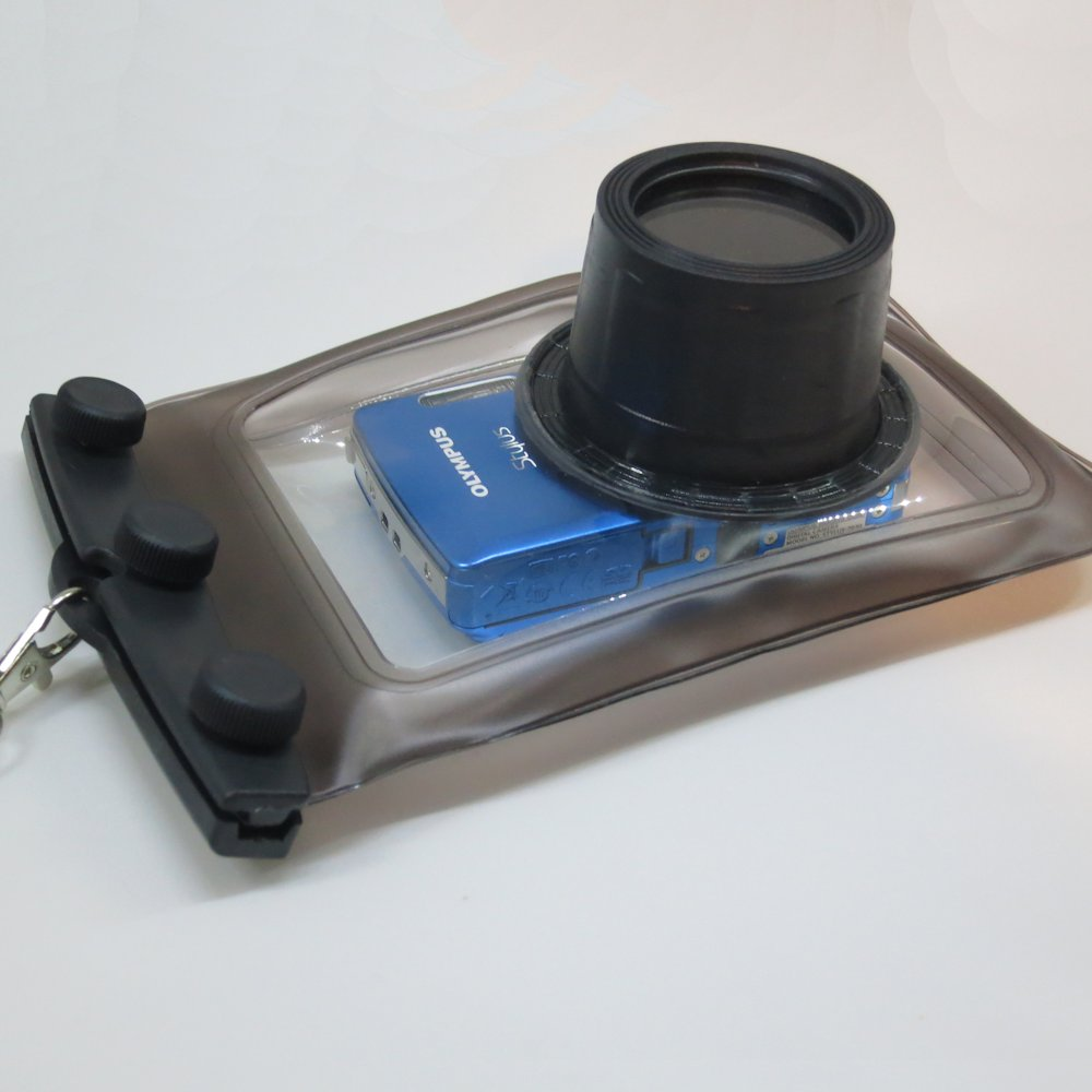 Gomadic Waterproof Camera Protective Bag suitable for the Nokia Lumia 925 - Unique Floating Design Keeps Camera Clean and Dry