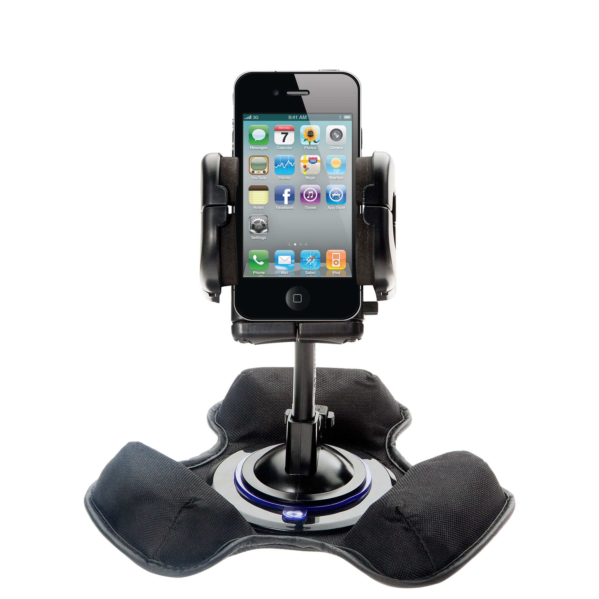 Dash and Windshield Holder compatible with the Apple iPhone 4