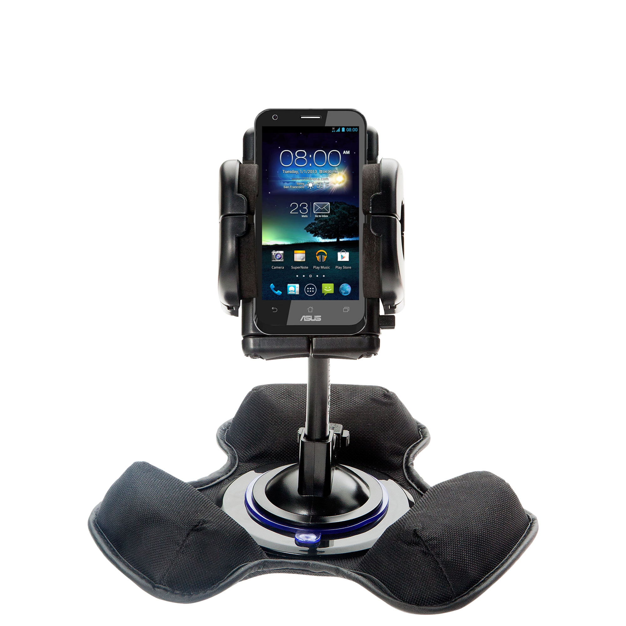 Dash and Windshield Holder compatible with the Asus PadFone
