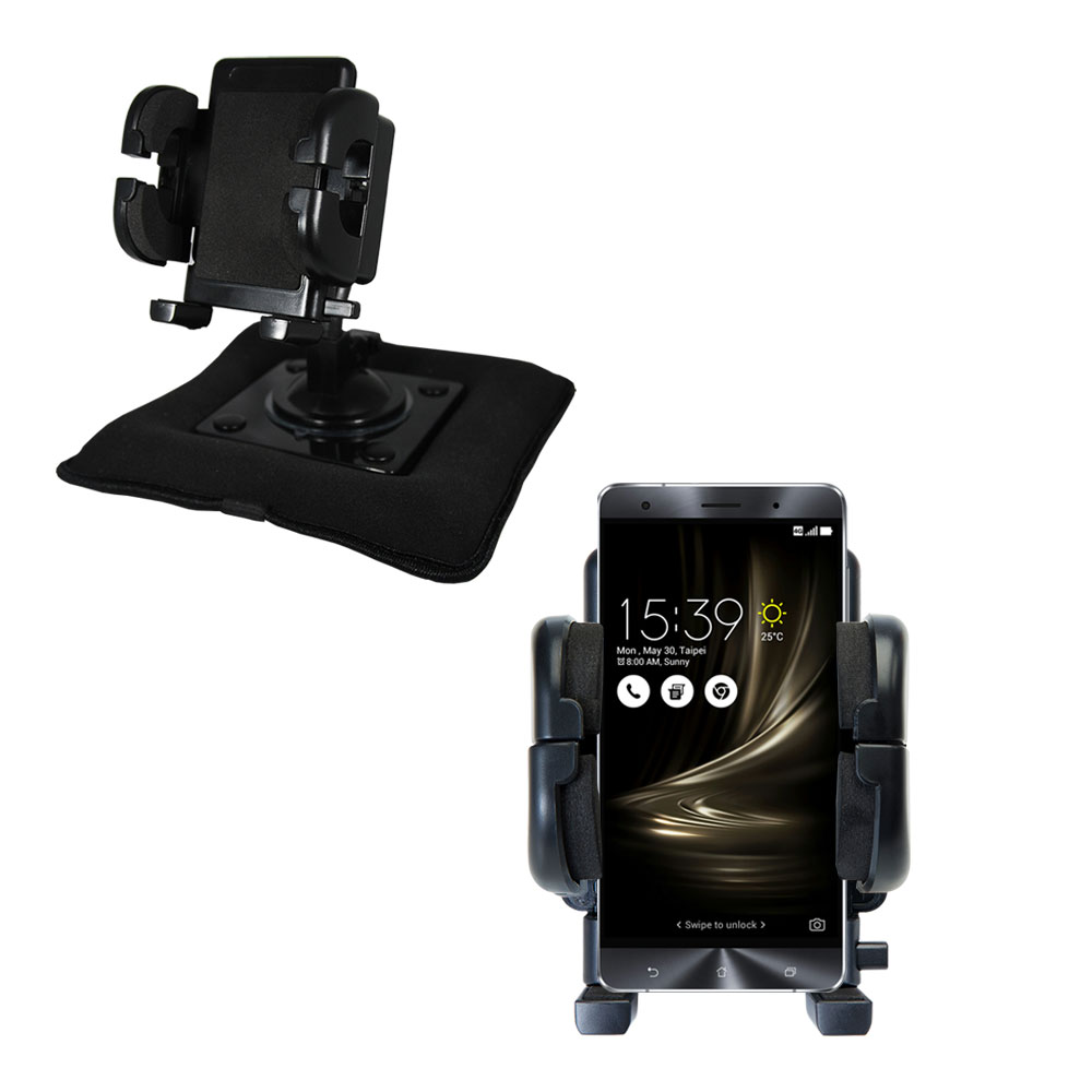 Dash and Windshield Holder compatible with the Asus Zenfone 3