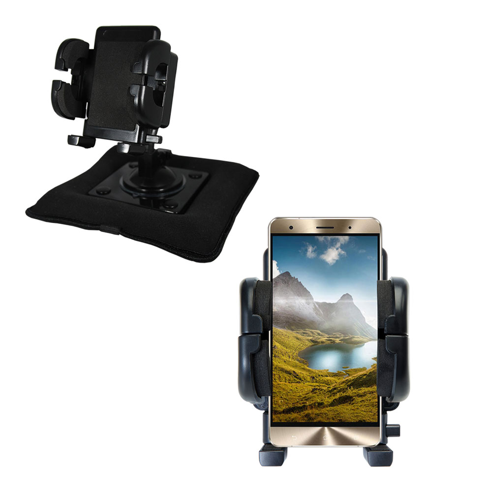Dash and Windshield Holder compatible with the Asus Zenfone 3 Deluxe