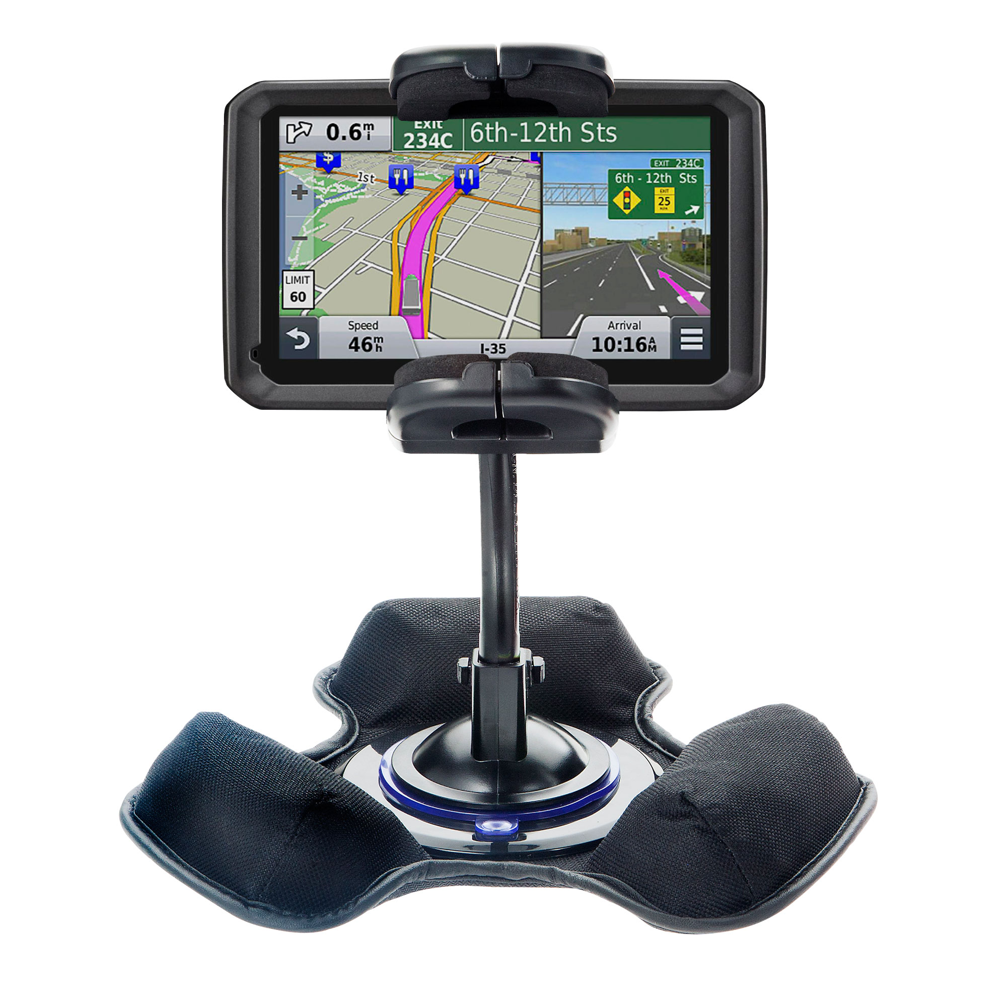 Dash and Windshield Holder compatible with the Garmin dezl 570 LMT