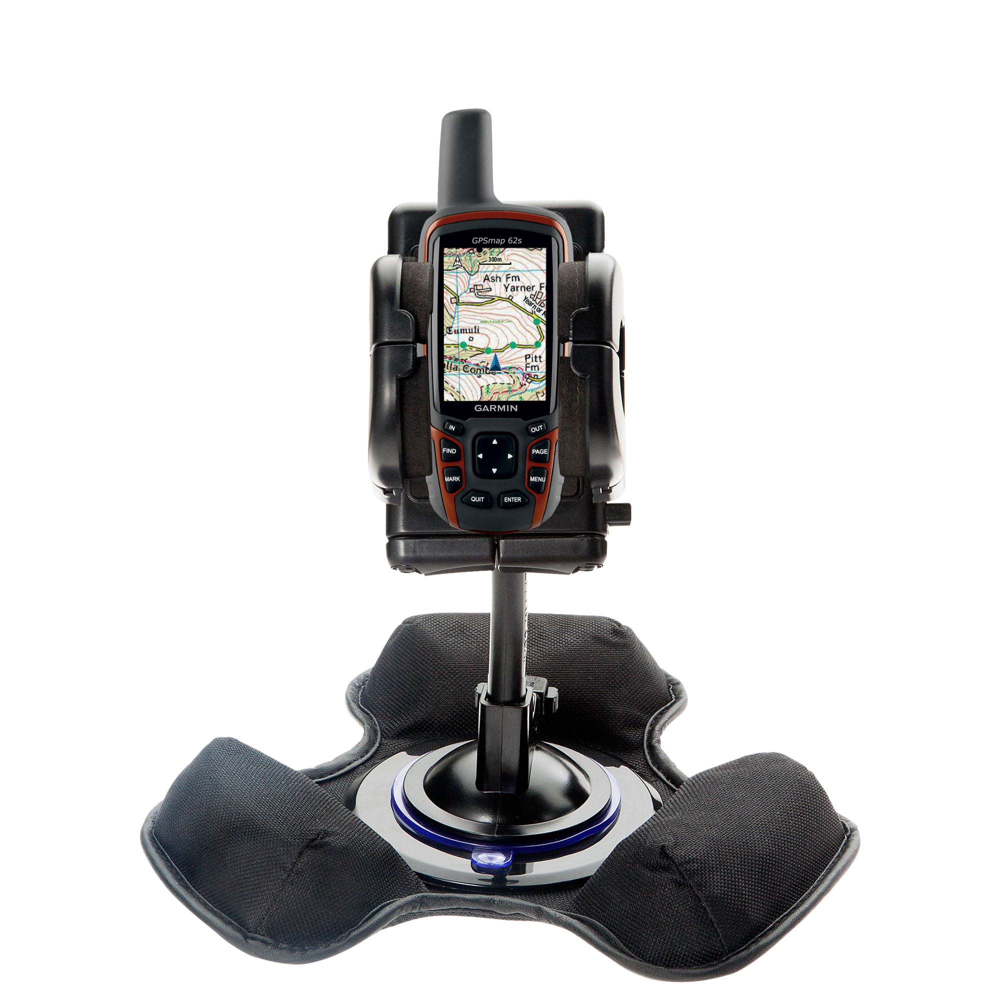 Dash and Windshield Holder compatible with the Garmin  GPSMap 62