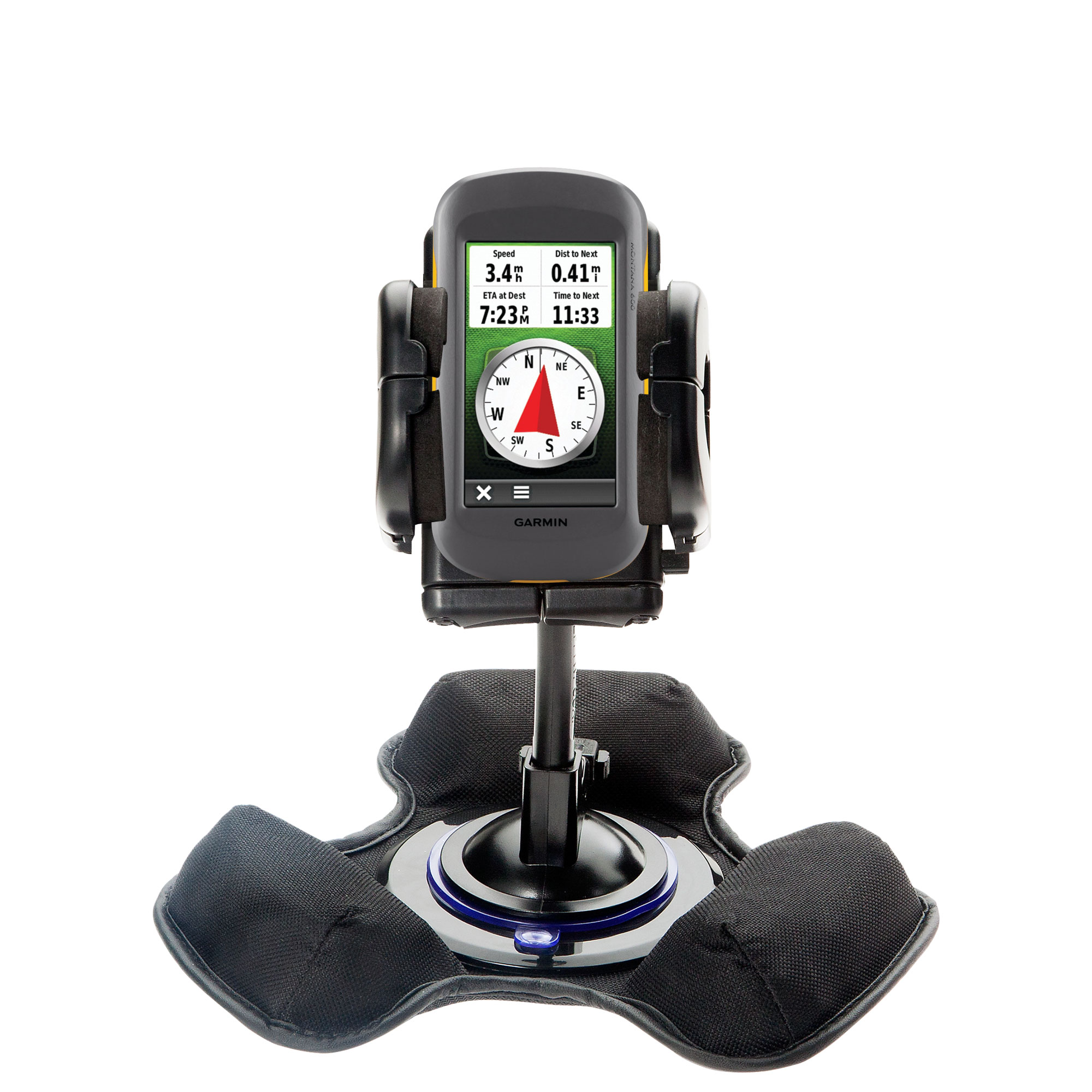Dash and Windshield Holder compatible with the Garmin Montana 600 650 650t
