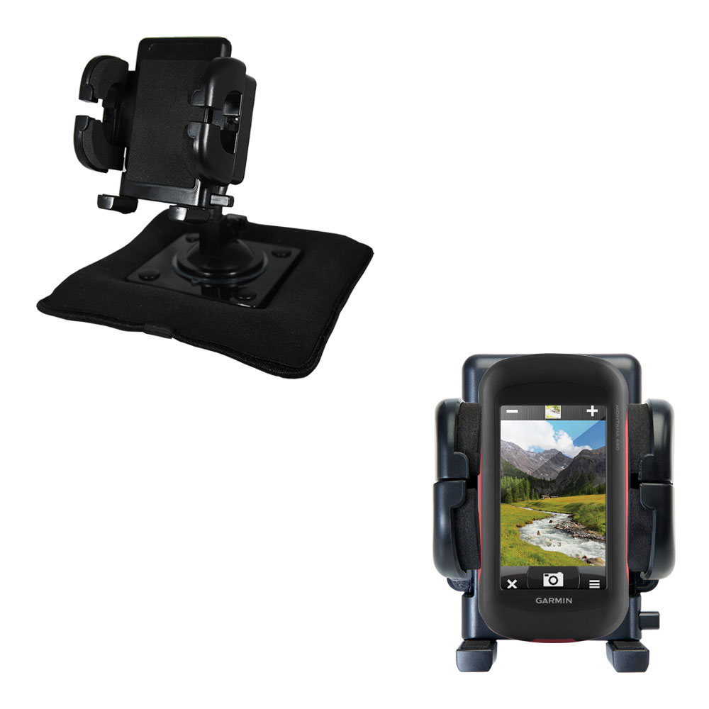 Dash and Windshield Holder compatible with the Garmin Montana 680 / 680t