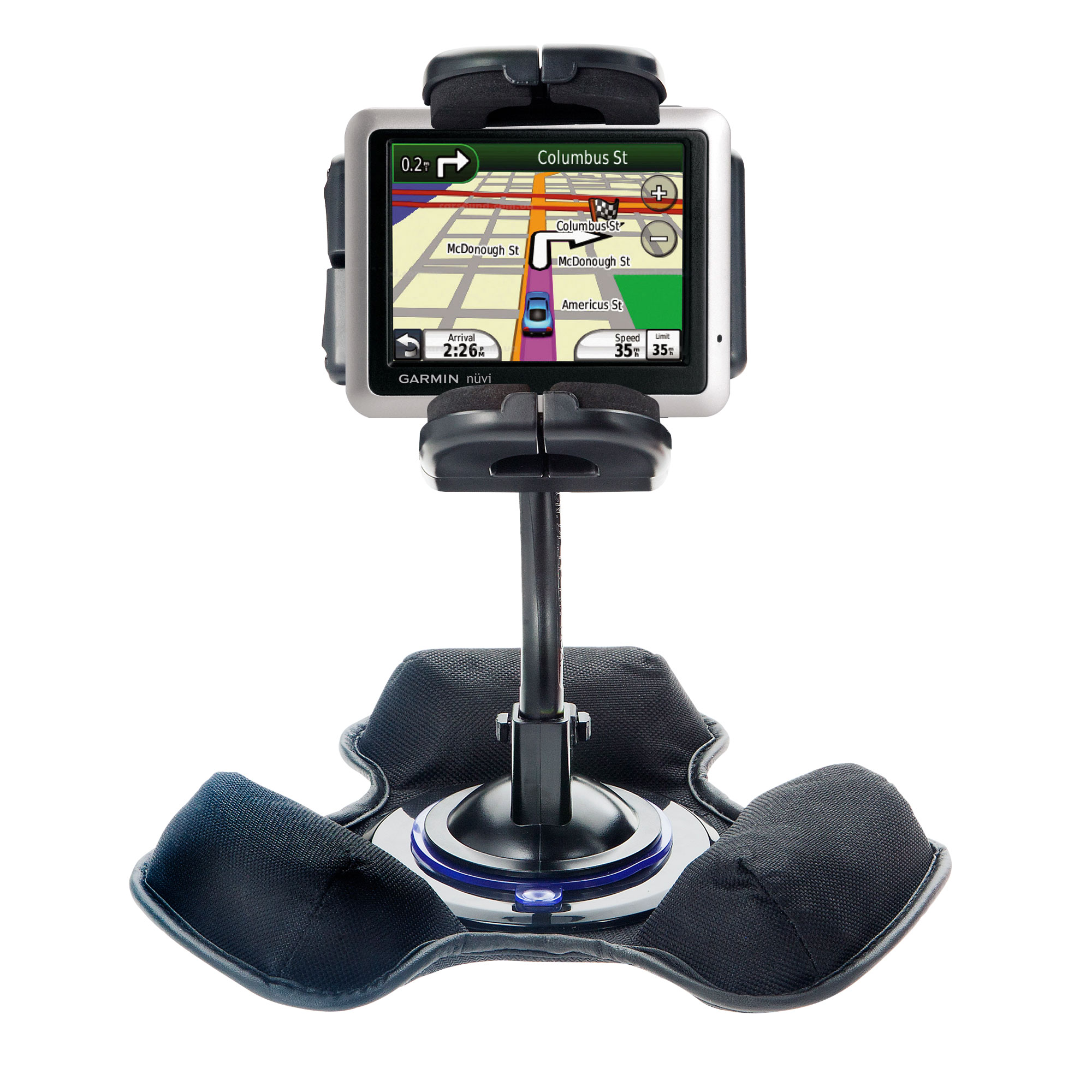 Dash and Windshield Holder compatible with the Garmin Nuvi 1245 City Chic