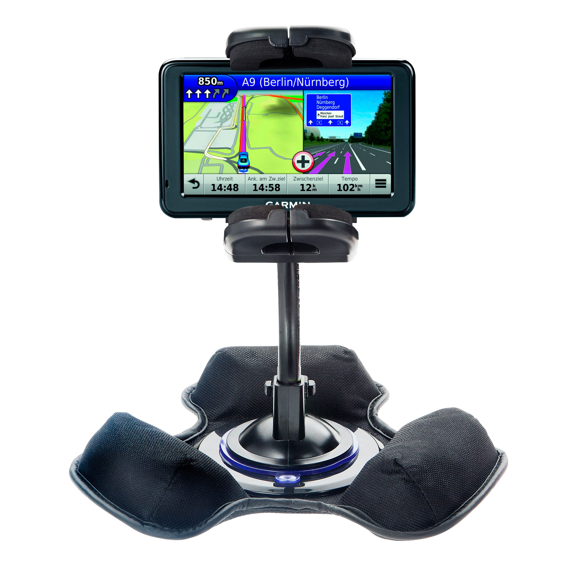 Dash and Windshield Holder compatible with the Garmin Nuvi 1390Tpro