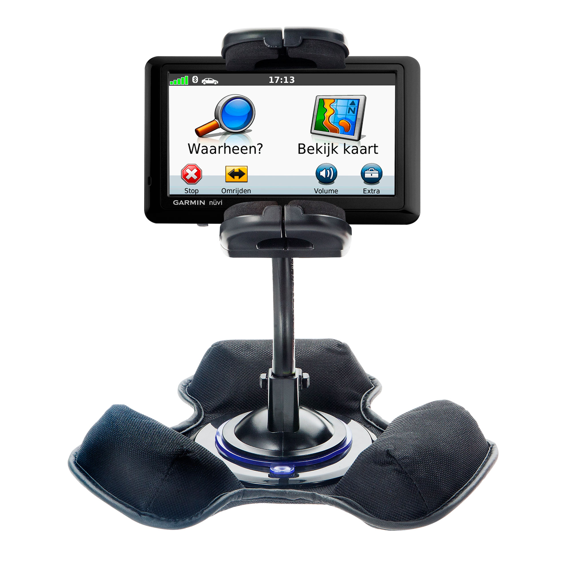 Dash and Windshield Holder compatible with the Garmin Nuvi 1490T