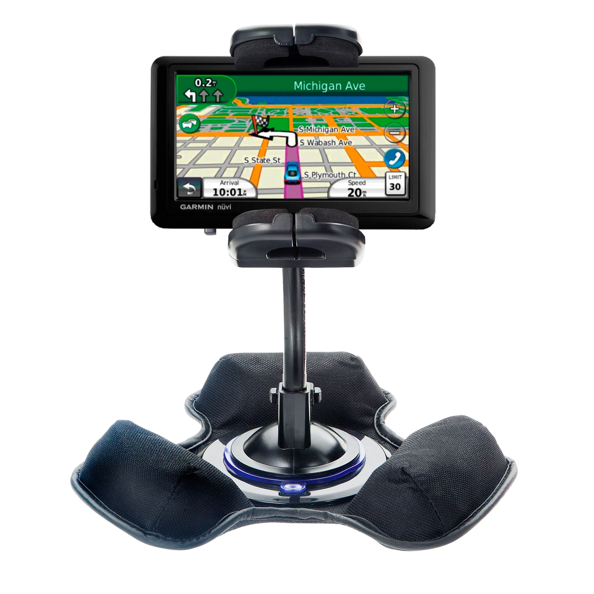Dash and Windshield Holder compatible with the Garmin Nuvi 1490Tpro