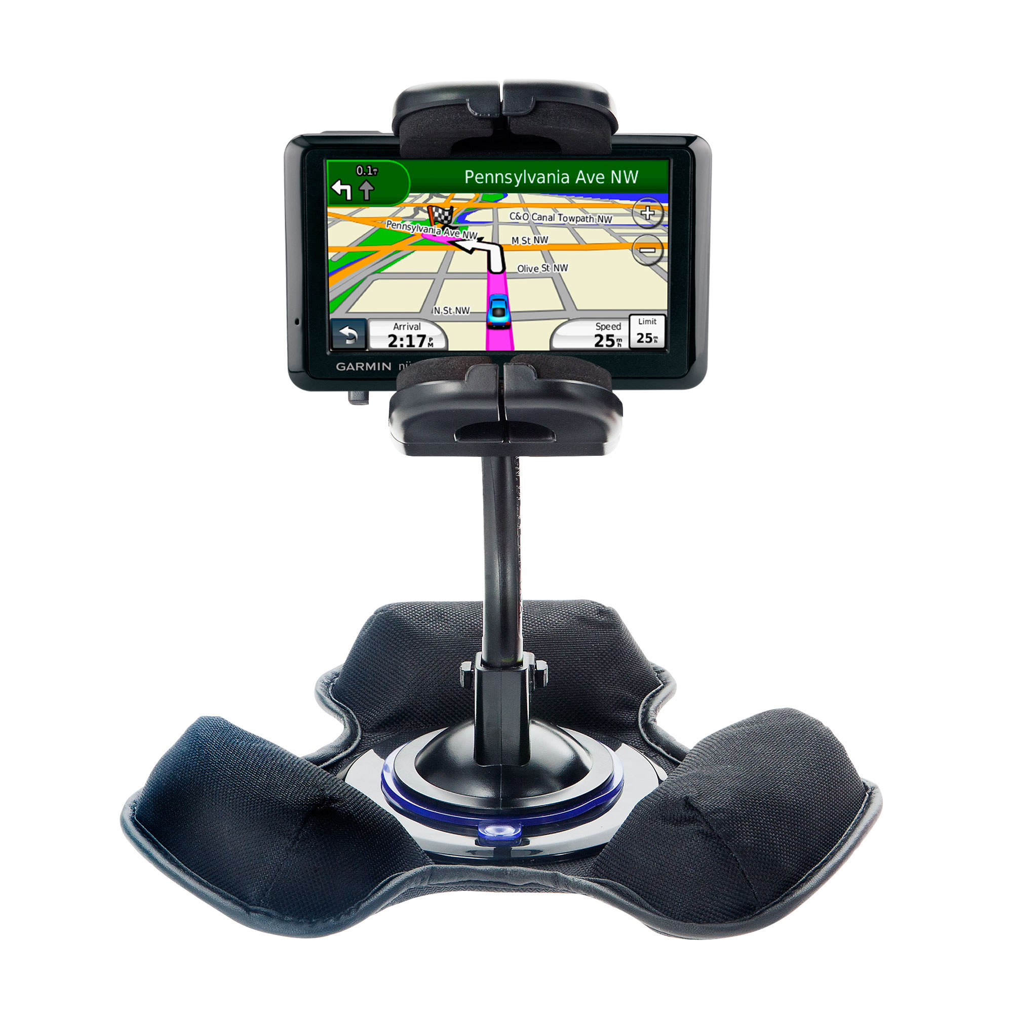 Dash and Windshield Holder compatible with the Garmin nuvi 205WT