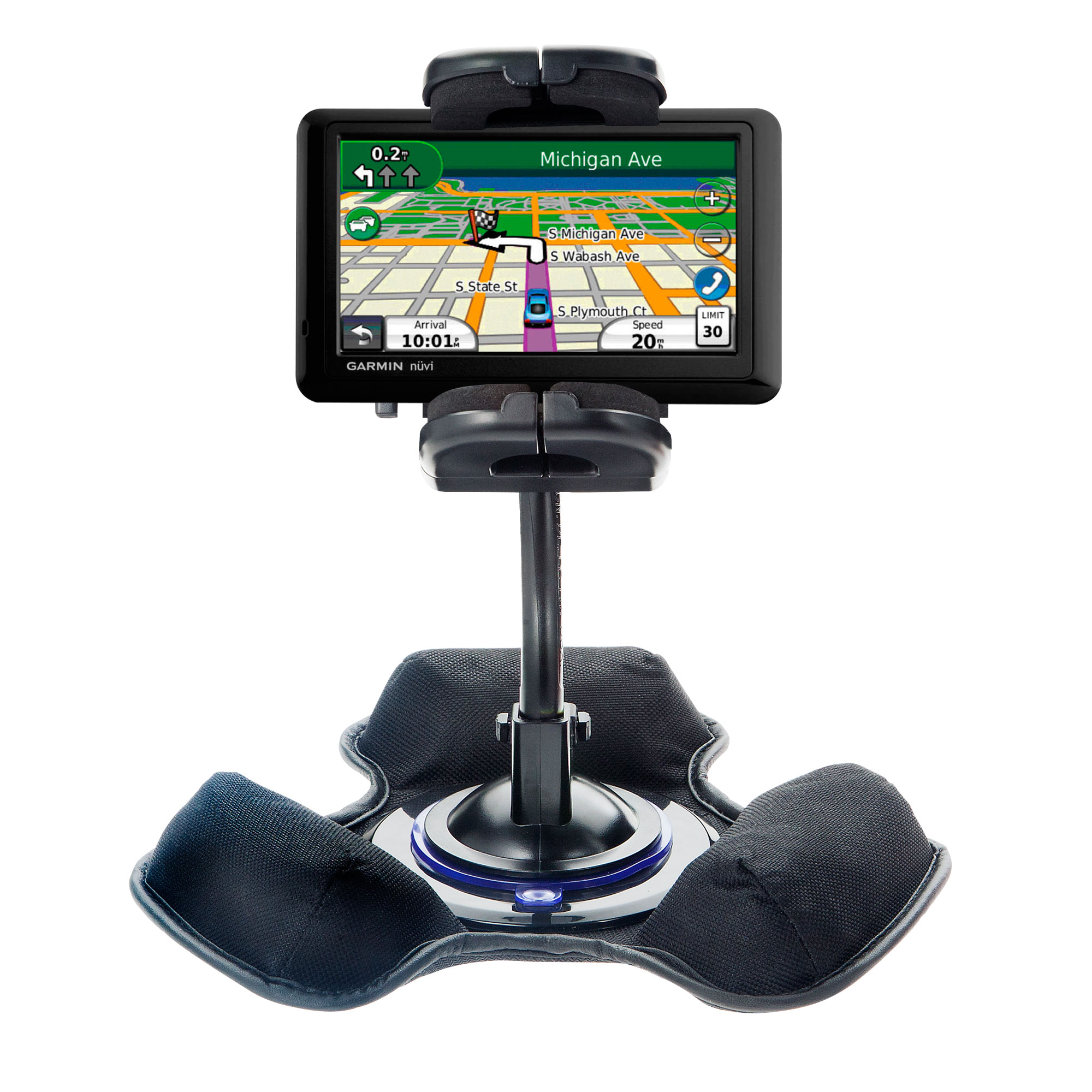 Dash and Windshield Holder compatible with the Garmin Nuvi 2350