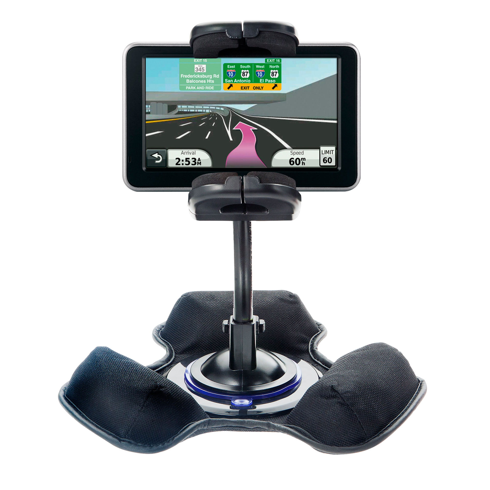 Dash and Windshield Holder compatible with the Garmin Nuvi 2450
