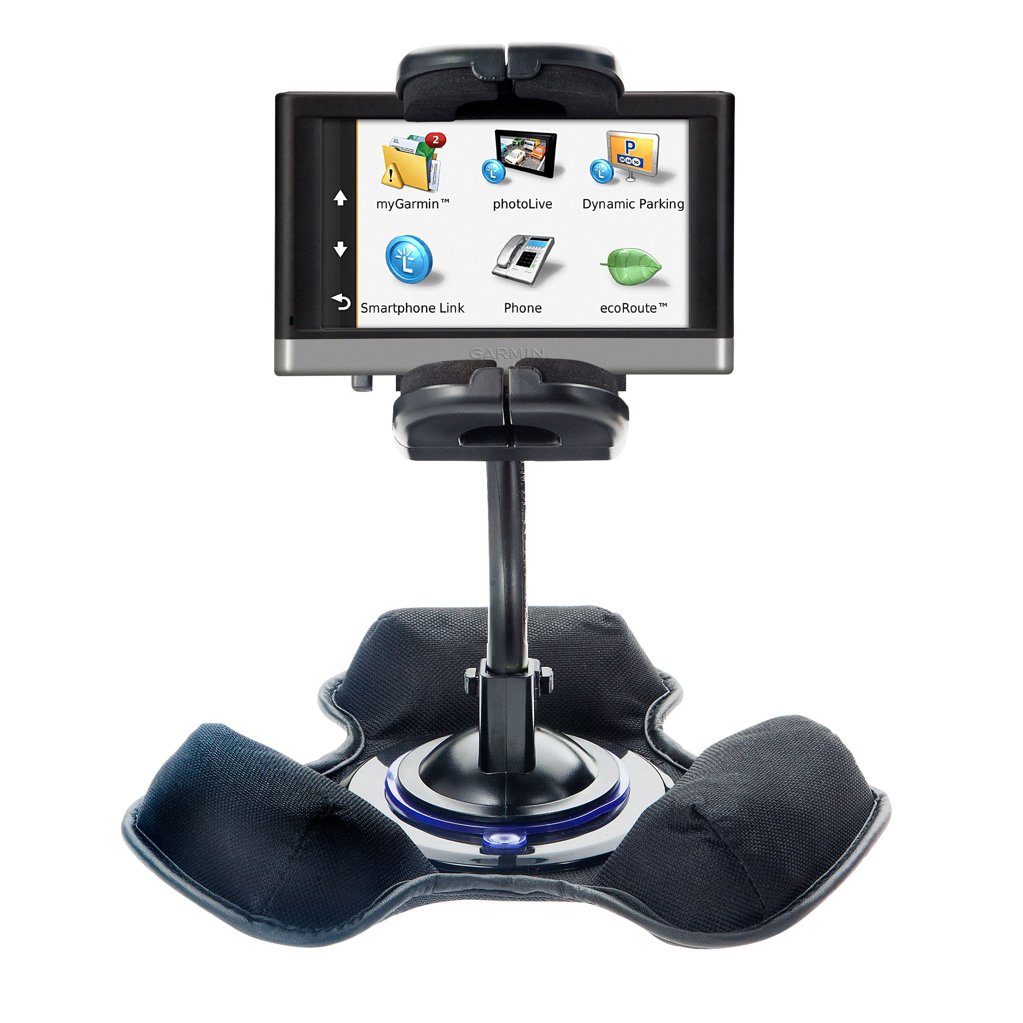 Dash and Windshield Holder compatible with the Garmin nuvi 2457 / 2497 LMT