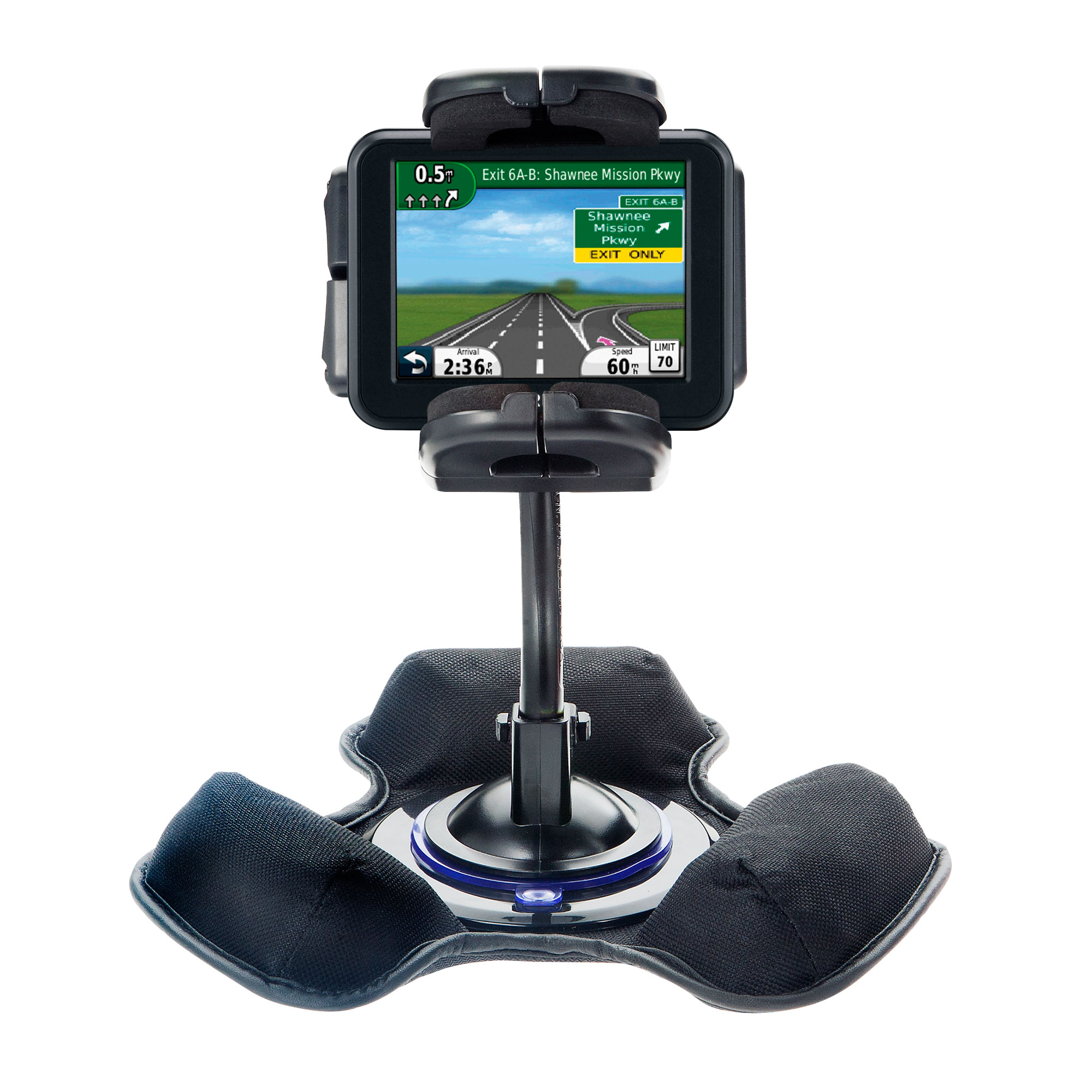 Dash and Windshield Holder compatible with the Garmin Nuvi 30