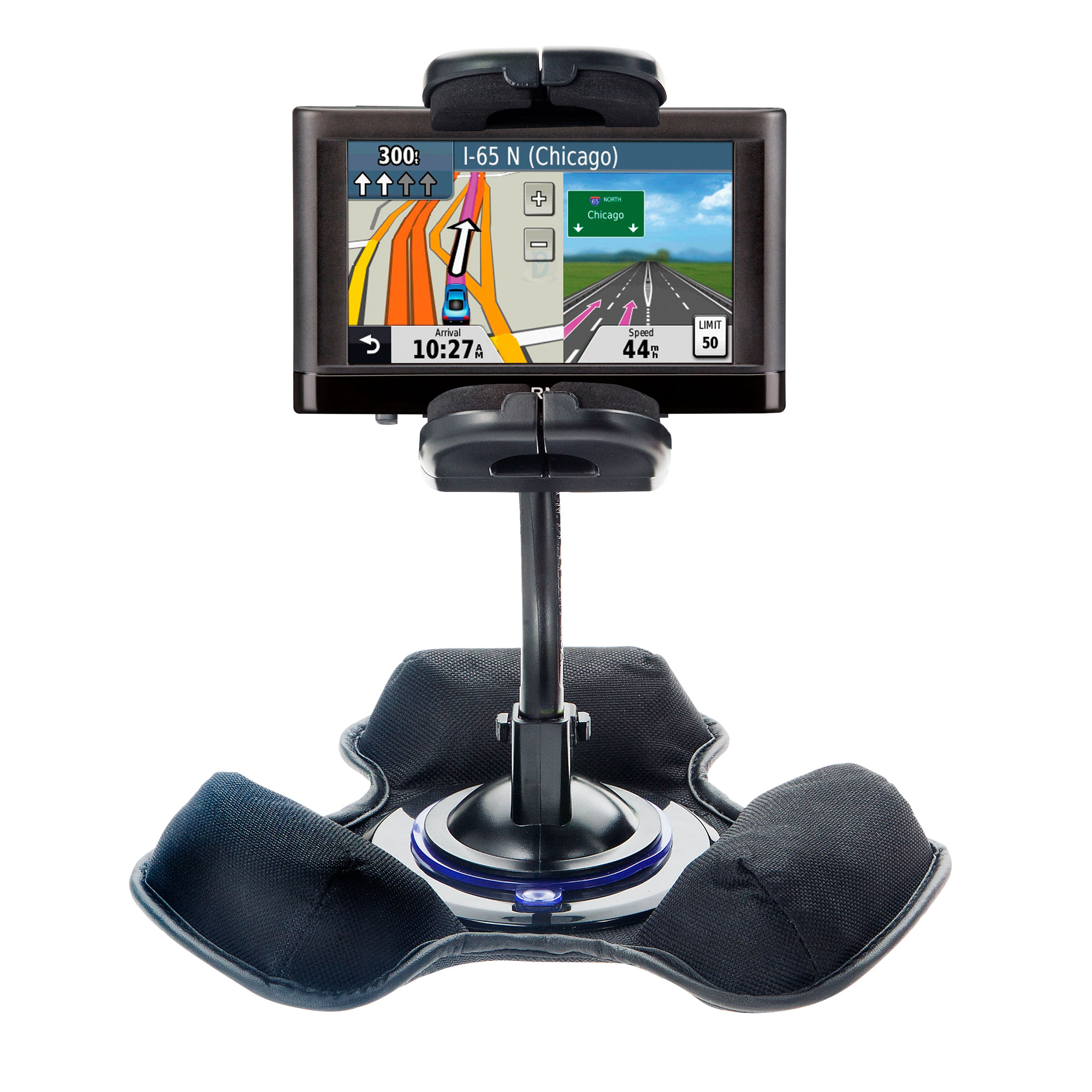 Dash and Windshield Holder compatible with the Garmin nuvi 44