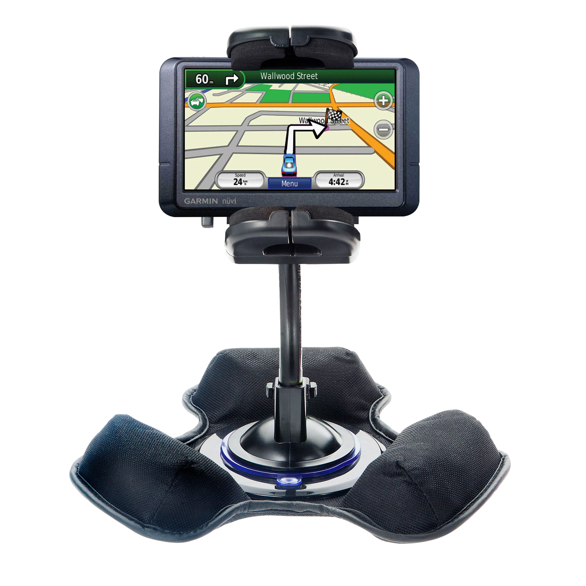 Dash and Windshield Holder compatible with the Garmin Nuvi 465T 465LMT